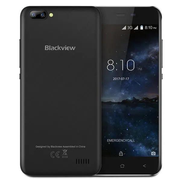 Telefon mobil Blackview A7, 3G, IPS5.0inch, 1GB RAM, 8GB ROM,MediaTek MT6580QuadCore, ARM Mali-400, Android 7.0, 2800mAh, Negru 0