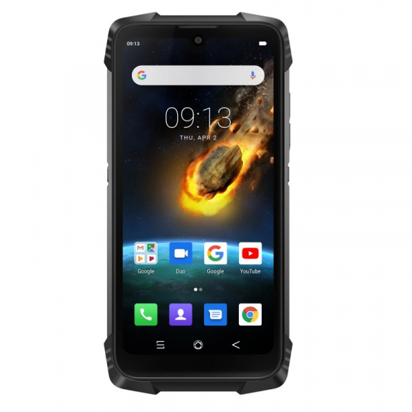 Telefon mobil Blackview BV6900, 4G, IPS 5.84inch, 4GB RAM, 64GB RAM, Android 9.0, Helio P25 OctaCore, Waterproof, 5580mAh, Dual SIM, Negru imagine