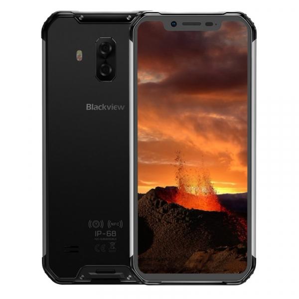 Telefon mobil Blackview BV9600E, 4G, AMOLED 6.21inch, 4GB RAM, 128GB ROM, Android 9.0, Helio P70 OctaCore, Dual SIM, 5580mAh, Gri