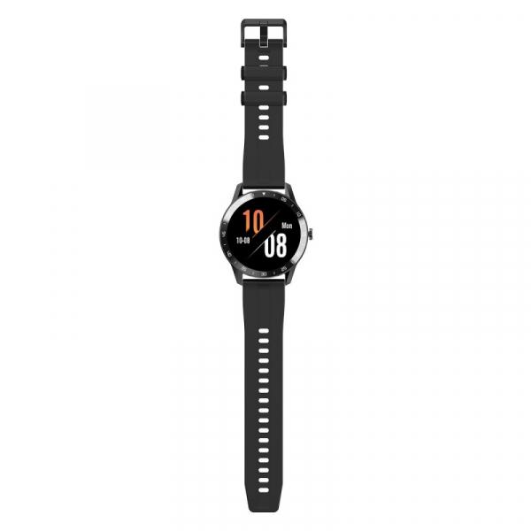 Smartwatch Blackview X1, LCD 1.3inch curbat 3D, 64MB ROM, Nodic nRF52832, Bluetooth v5.0, 260mAh, Curea cadou, Negru 4