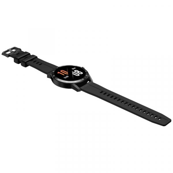 Smartwatch Blackview X1, LCD 1.3inch curbat 3D, 64MB ROM, Nodic nRF52832, Bluetooth v5.0, 260mAh, Curea cadou, Negru 5