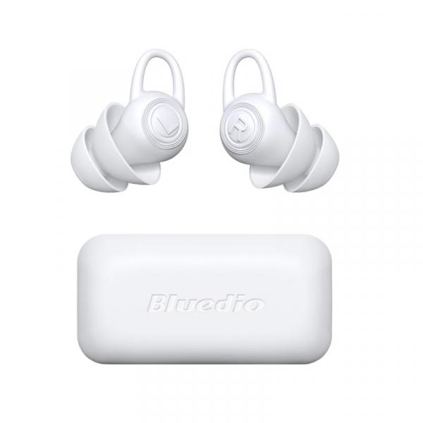 Dopuri pentru urechi Bluedio Earplugs din silicon si cutie de transport, Reducere zgomot pana la -40dB, Alb 0