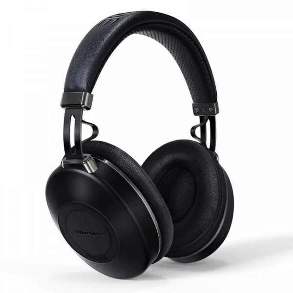 Casti wireless HiFi over-ear Bluedio H2, 113dB, Touch control, Microfon, ANC, Bluetooth v5.0, Slot memorie, Negru 0