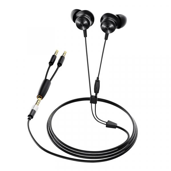 Casti in-ear cu fir Bluedio Li, Difuzor de 13mm, 115dB, 32 , Microfon HD, Jack placat cu aur, Design magnetic, Negru imagine
