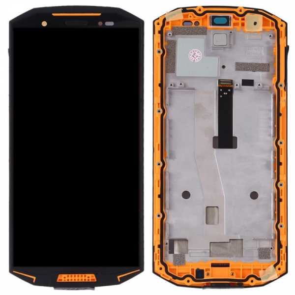 Display OGS original Doogee S70 S70 Lite cu rama Orange imagine dualstore.ro 2021