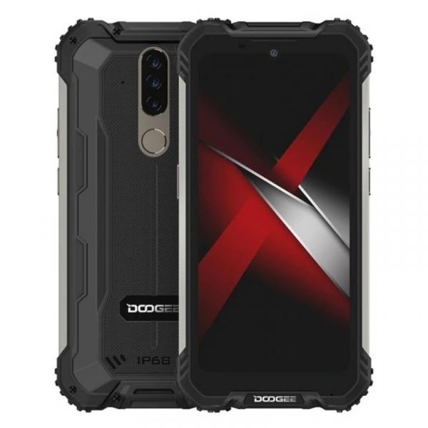 Telefon mobil Doogee S58 Pro, 4G, IPS 5.71 , 6GB RAM, 64GB ROM, Android 10, Helio P22, Camera submersibila, 5180mAh, Dual SIM, Negru imagine dualstore.ro 2021
