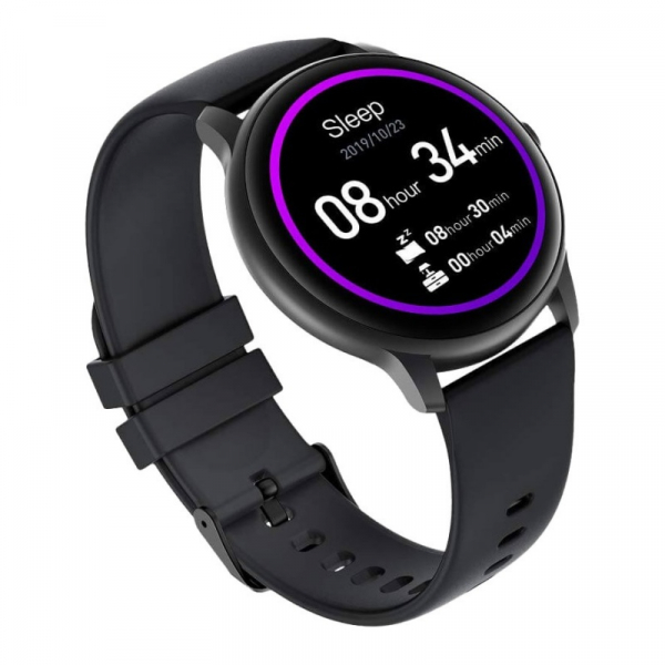 "Smartwatch Xiaomi IMILAB KW66, TFT HD 1.28"" Touch Screen curbat 3D, Ritm cardiac, Bluetooth v5.0, IP68, 340mAh, Negru 2"