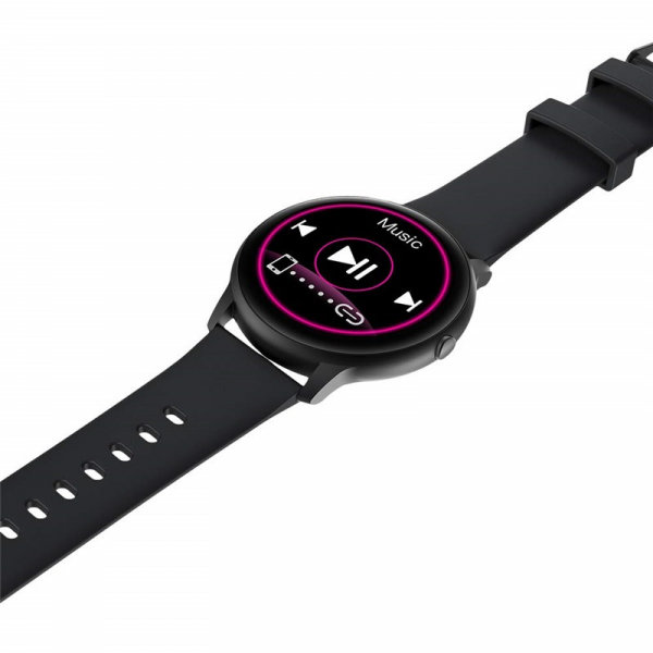 "Smartwatch Xiaomi IMILAB KW66, TFT HD 1.28"" Touch Screen curbat 3D, Ritm cardiac, Bluetooth v5.0, IP68, 340mAh, Negru 4"