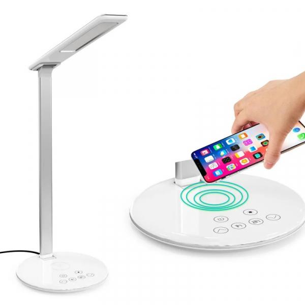 Lampa LED de birou cu incarcator wireless Qi 10W 1