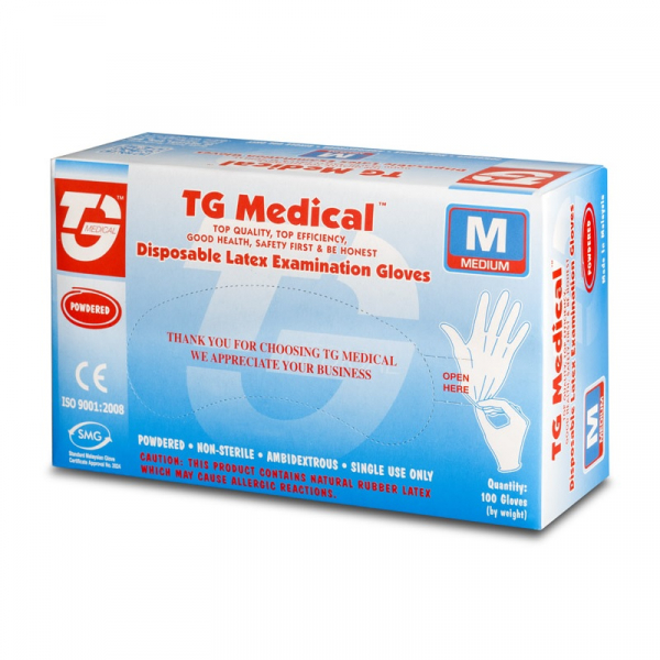 Manusi medicale de unica folosinta din latex TopGlove Disposable Latex Examination Gloves, Ambidextre, 200 bucati, Alb imagine dualstore.ro 2021
