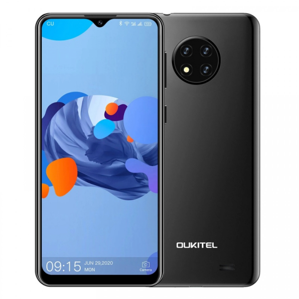 Telefon mobil Oukitel C19, 4G, IPS 6.49 , 2GB RAM, 16GB ROM, Android 10 GO, MTK6737 QuadCore, 4000mAh, Dual SIM, Negru imagine