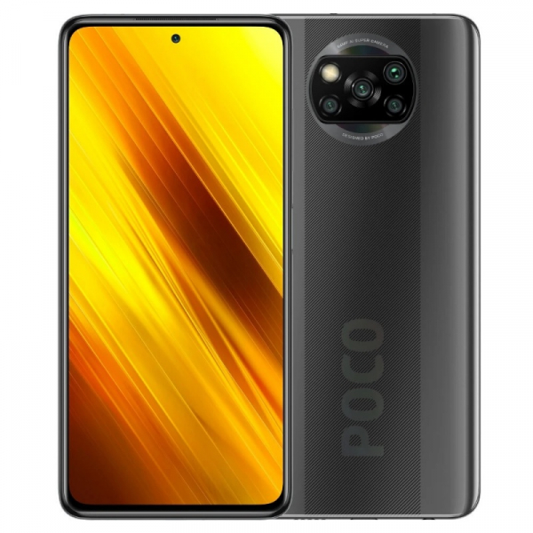 Telefon mobil Xiaomi POCO X3 NFC, 4G, IPS 6.67 , 6GB RAM, 64GB ROM, MIUI v12 POCO, Snapdragon 732G, NFC, 5160mAh, Dual SIM, EU, Gri imagine