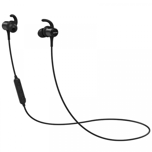 Casti bluetooth in-ear QCY M1c cu guler, 32Ω, Microfon, Control pe fir, Magnetice, Bluetooth v5.0, 90mAh, Negru 0