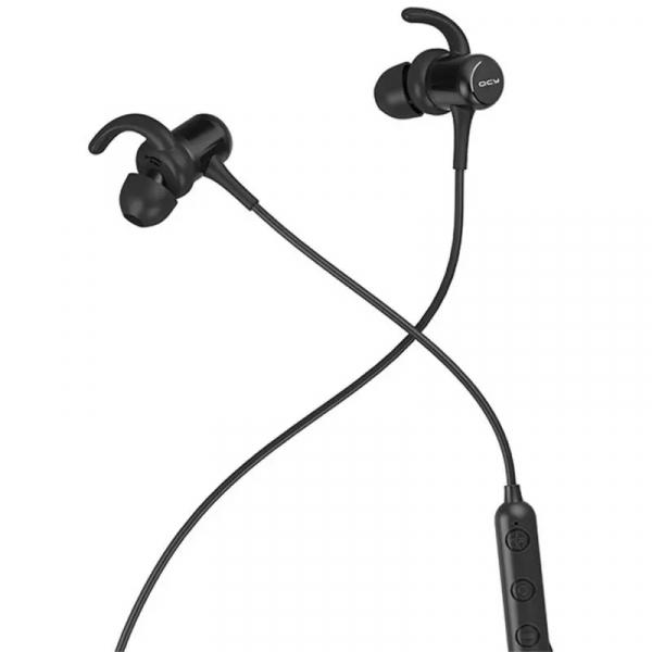 Casti bluetooth in-ear QCY M1c cu guler, 32Ω, Microfon, Control pe fir, Magnetice, Bluetooth v5.0, 90mAh, Negru 4