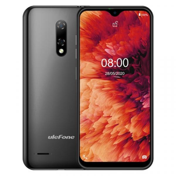 Telefon mobil Ulefone Note 8P, 4G, IPS 5.5 Waterdrop, 2GB RAM, 16GB ROM, Android 10 GO, MT6737 QuadCore, 2700mAh, Dual SIM, Negru imagine