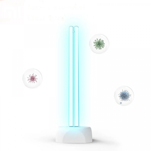 Lampa UV Xiaomi Huayi UV Ozone Sterilization Lamp cu 2 tuburi pentru sterilizare 360° si ozon de 38W Alb 2