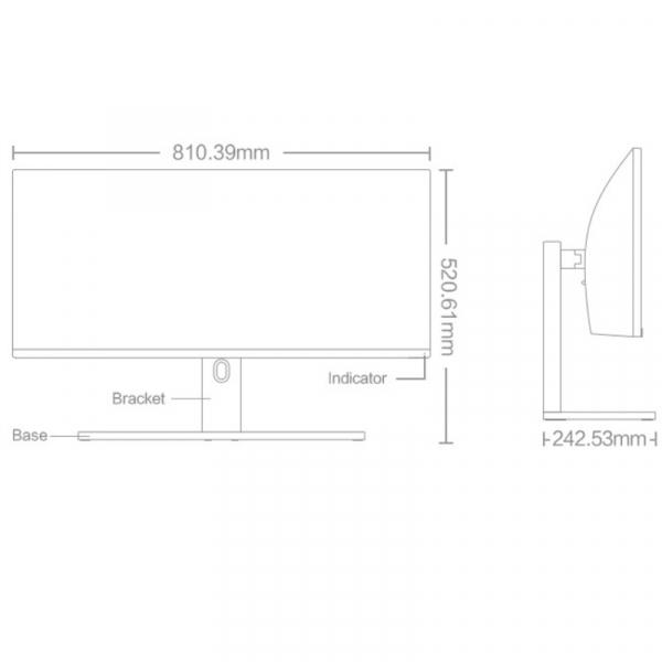 """Monitor curbat pentru gaming Xiaomi Mi Curved Gaming Monitor 34"""" Negru 4"""
