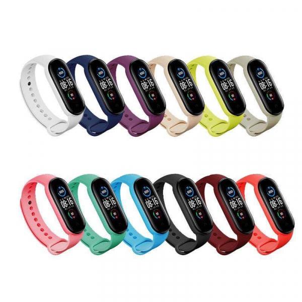 Bratara de schimb din silicon pentru smartband Xiaomi Mi Band 5, diferite colorituri, confortabila si rezistenta imagine
