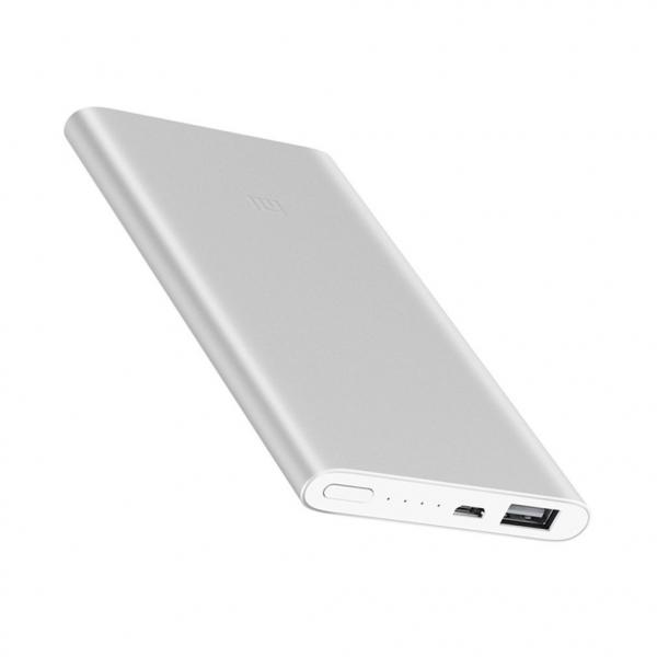 Acumulator extern Xiaomi Mi Power Bank 2, 5000mAh, Micro-USB, USB-A, Incarcare rapida, Incarcare la putere mica 2