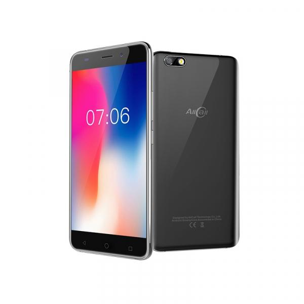 Telefon mobil AllCall Madrid 3G, Ecran Curbat 5.5 inch, Android 7, QuadCore, 1GB RAM 8GB ROM, OTG, 8 MP, Dual Sim 1