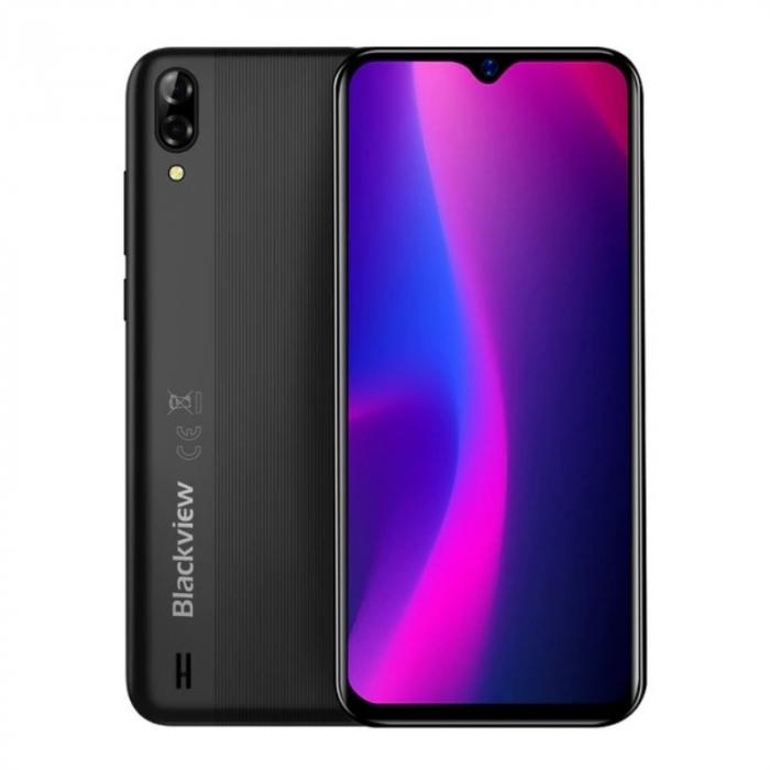 Telefon mobil Blackview A60 Negru, 3G, IPS 6.1 , 2GB RAM, 16GB ROM, Android 10 GO, MediaTek MT6580A QuadCore, 4080mAh, Dual SIM imagine dualstore.ro 2021