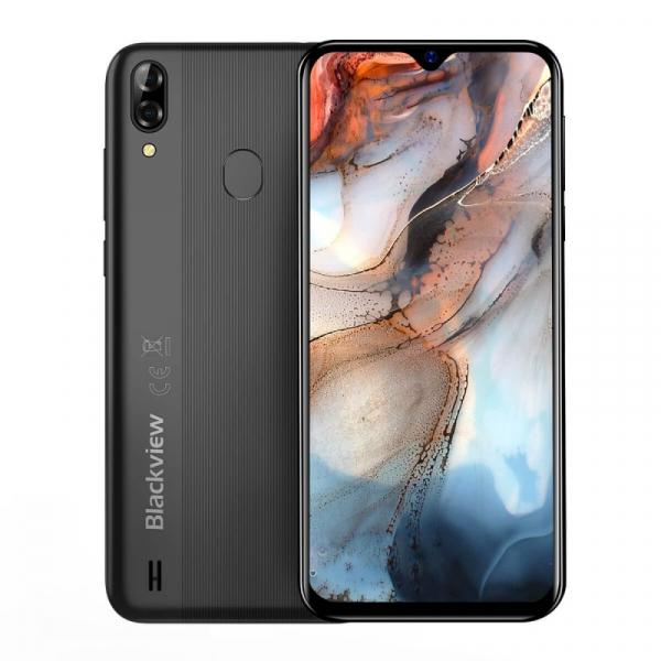 Telefon mobil Blackview A60 Plus Negru, 4G, IPS 6.088 , 4GB RAM, 64GB ROM, Android 10, Helio A22 QuadCore, MicroSD dedicat, 4080mAh imagine
