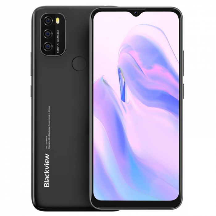 Telefon mobil Blackview A70 Negru, 4G, IPS 6.517 Waterdrop, 3GB RAM, 32GB ROM, Android 11, Unisoc SC9863A OctaCore, 5380mAh, Dual SIM imagine dualstore.ro 2021