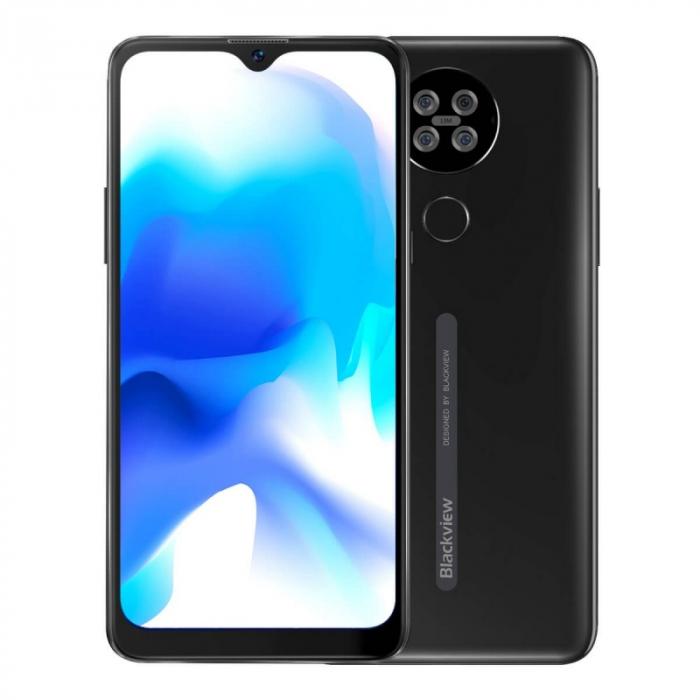 Telefon mobil Blackview A80s Negru, 4G, IPS 6.217 Waterdrop, 4GB RAM, 64GB ROM, Android 10, Helio A25 OctaCore, 4200mAh, Dual SIM imagine dualstore.ro 2021