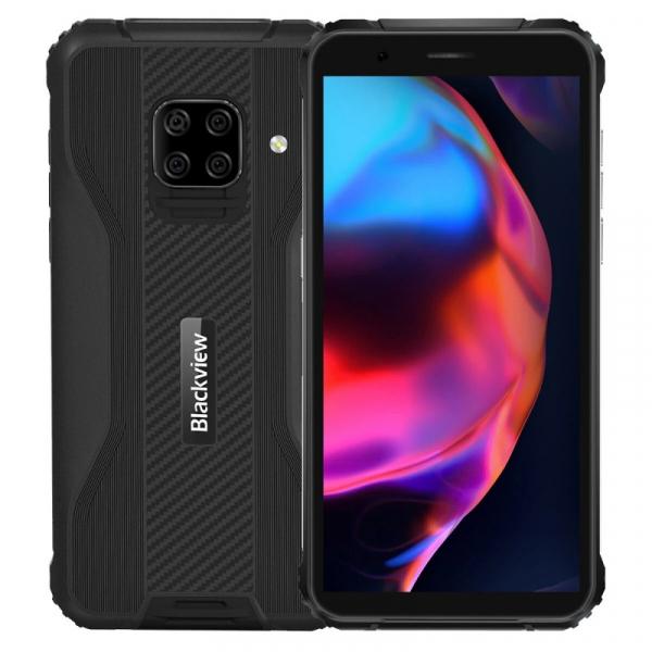 Telefon mobil Blackview BV5100 Negru, 4G, IPS 5.7 , 4GB RAM, 128GB ROM, Android 10, Helio P22, NFC, Incarcare wireless, 5580mAh, Dual SIM