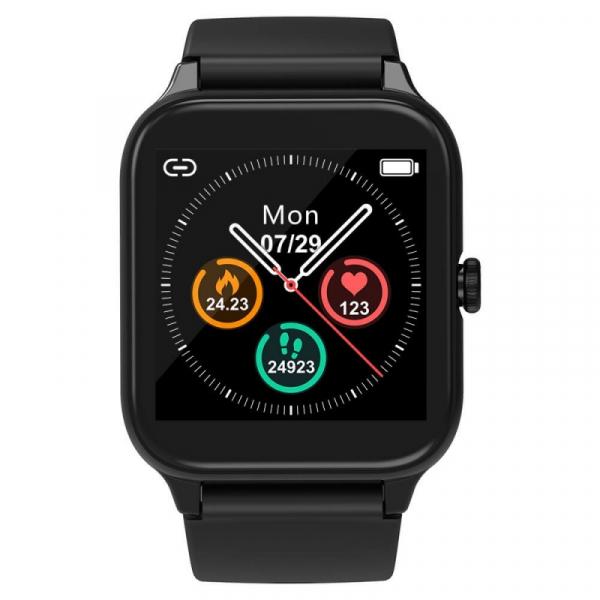 Smartwatch Blackview R3 Pro Negru, TFT 1.54 Touch screen, Ritm cardiac, Calorii, Fitness tracker, Monitorizare somn, IP68, 280mAh