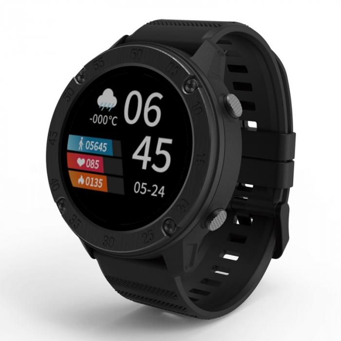 Smartwatch Blackview X5 Negru, TFT LCD 1.3 HD, Ritm cardiac, Contor calorii, Bluetooth 5, Control muzica si camera, Waterproof IP68, 260mAh imagine dualstore.ro 2021