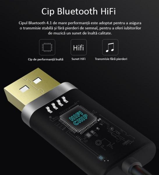 Bluedio BL Bluetooth Cablu Adaptor pentru muzica 1