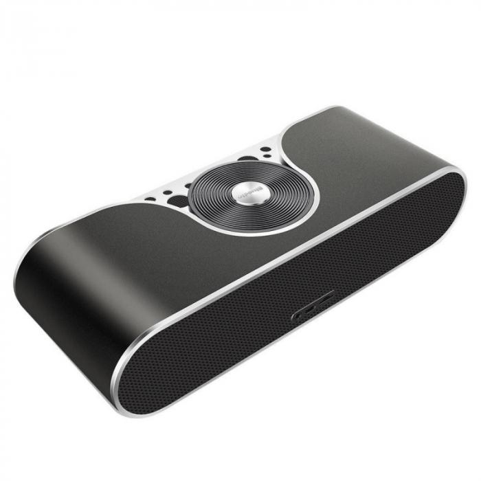 Boxa portabila Bluedio TS3 Negru, Sistem 2.1, Wireless, Bluetooth, Slot memorie, Aux, Microfon incorporat 2