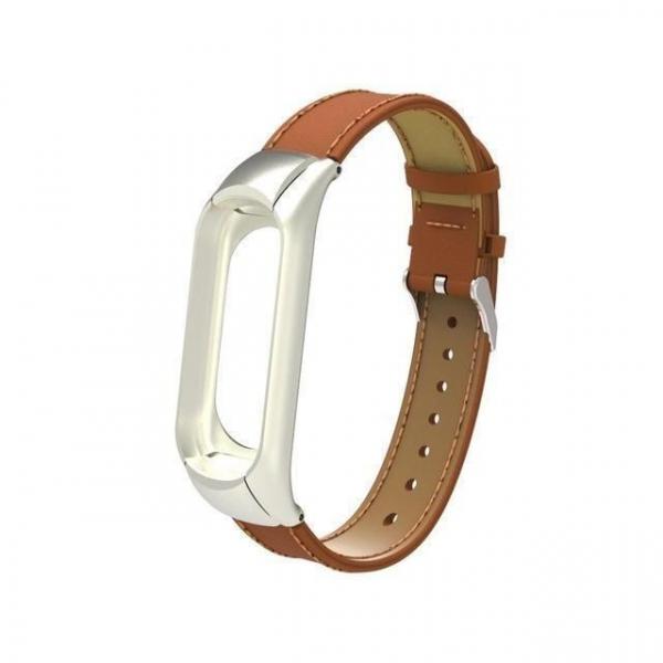 Bratara de schimb din piele pentru Xiaomi Mi Band 5 , confortabila, eleganta si de calitate 6