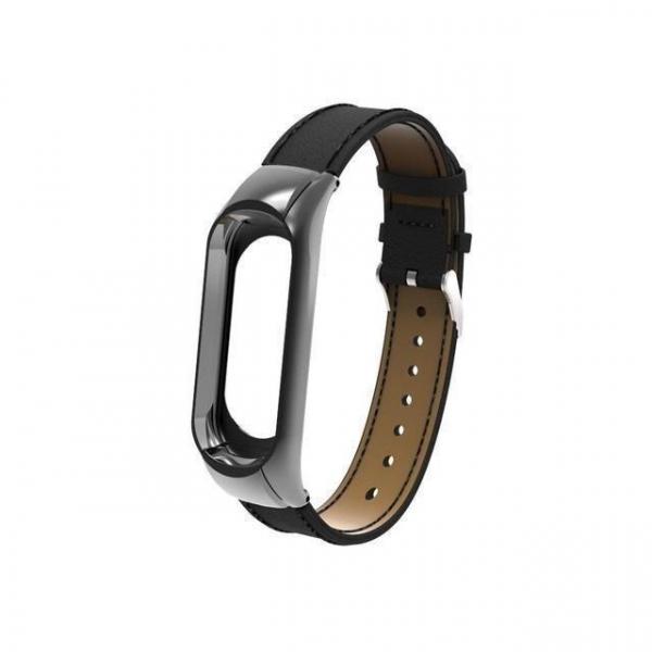 Bratara de schimb din piele pentru Xiaomi Mi Band 4 , confortabila, eleganta si de calitate 4