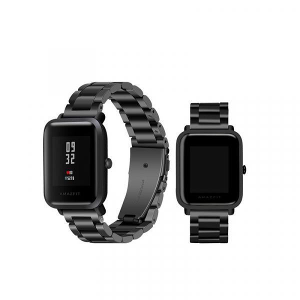 Bratara de schimb din metal cu zale mari pentru smartwatch Xiaomi AmazFit Bip 1