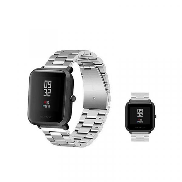 Bratara de schimb din metal cu zale mari pentru smartwatch Xiaomi AmazFit Bip 3