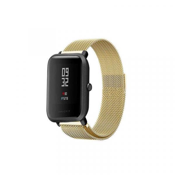 Bratara de schimb din metal cu zale mici pentru smartwatch Xiaomi AmazFit Bip 1