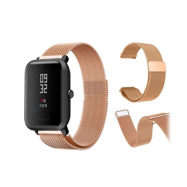 Bratara de schimb din metal cu zale mici pentru smartwatch Xiaomi AmazFit Bip 4
