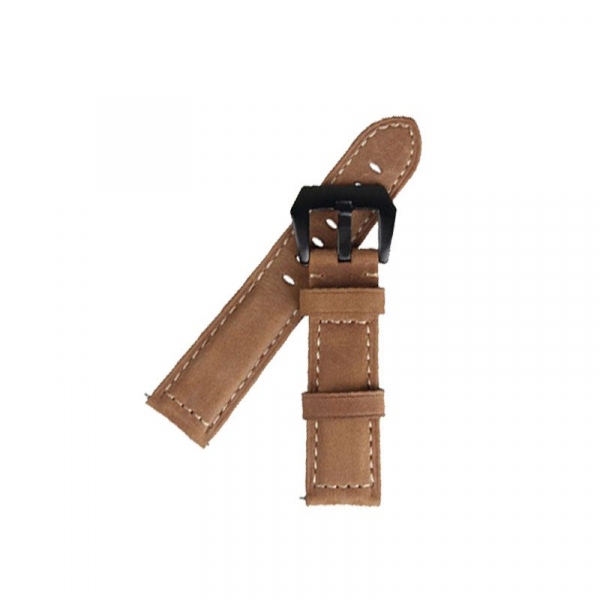 Bratara de schimb din piele pentru smartwatch Xiaomi AmazFit 1, AmazFit 2, 22mm 2