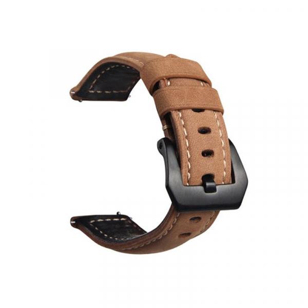 Bratara de schimb din piele pentru smartwatch Xiaomi AmazFit 1, AmazFit 2, 22mm 4