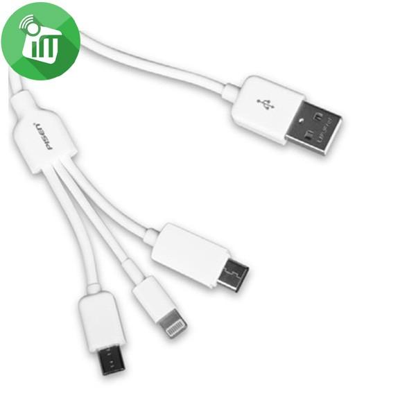 Cablu Incarcare 3 in 1 Pisen (Micro Usb, lightning, tip C) 2