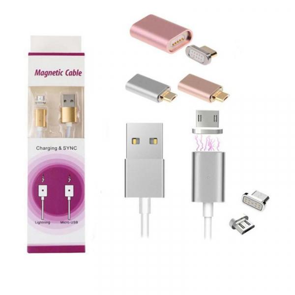 Cablu magnetic USB la alegere Tip C, Micro USB, Lightning (Iphone), pentru incarcare si transfer date imagine dualstore.ro 2021