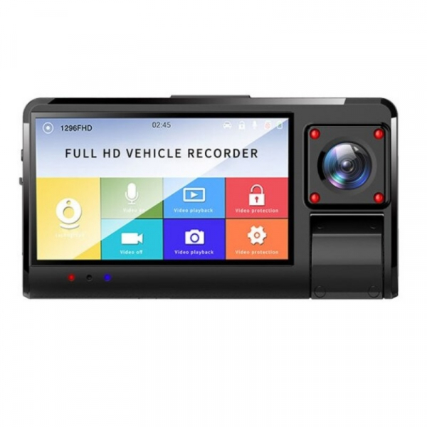 Camera auto DVR STAR K13 FHD, 3.0 Touch Screen, 3 Camere, Picture in picture, Slot memorie, 300mAh imagine