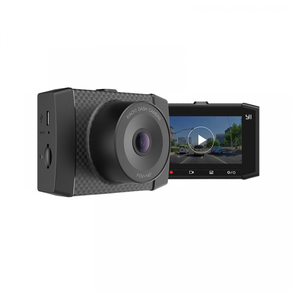 Camera Auto DVR Xiaomi YI Ultra Dash 2.7 K, Wireless, Slot Card, Suport parbriz cu ventuza, Dual Core 2