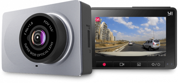 Camera auto Xiaomi Yi DVR Dashcam 2K , unghi larg de vizualizare imagine 2021