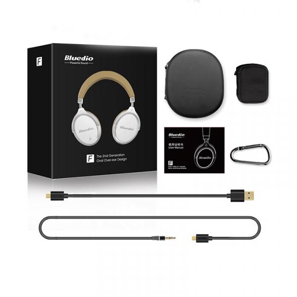 Casti Bluetooth Bluedio Faith 2 (F2), USB Tip C, Wireless, Microfon, anularea zgomotelor 5