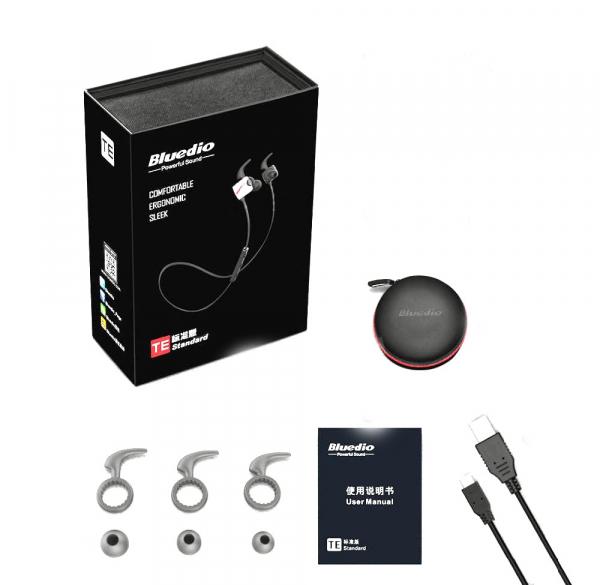 Casti Bluetooth Bluedio TE Sport, Fara fir, In-Ear, HandsFree, Rezistenta la transpiratie, Comanda multifunctionala 1