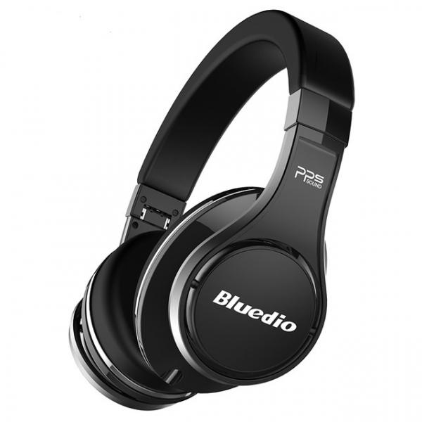 Casti Bluetooth Bluedio U (UFO), 8 difuzoare, Wireless Headphones Over-Ear PPS Cu Microfon, anularea zgomotelor imagine