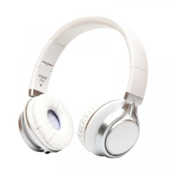 Casti over-ear cu fir KOMC S30 Alb, 108dB, Microfon pe fir imagine
